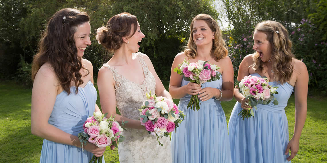 Bridesmaids in The Secret Garden Wedding Venue