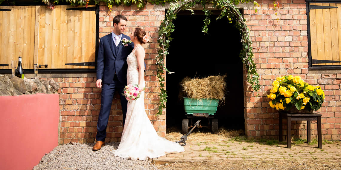 A Wedding Couple in The Secret Garden Wedding Venue